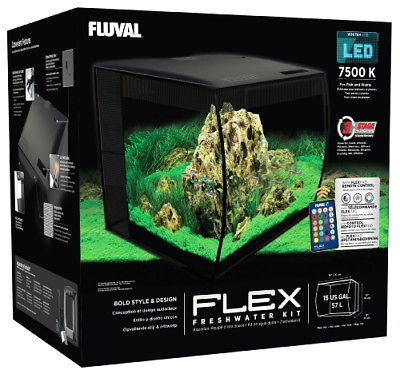 Fluval Flex LED Freshwater Kit Black 15 Gallon