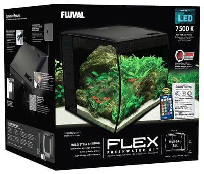 Fluval Flex LED Freshwater Kit Black 9 Gallon