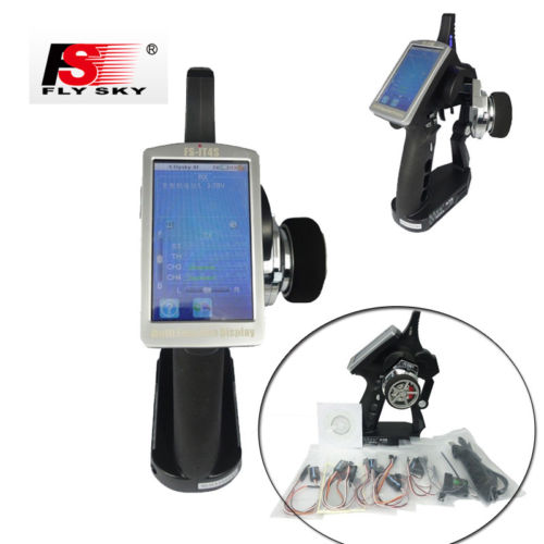 Flysky FS-iT4S 2.4GHz 4CH RC Gun Transmitter AFHDS2 Touch Screen for RC Car Boat