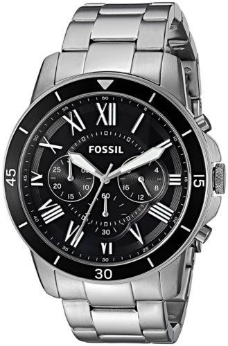 Fossil Men's FS5236 Grant Sport Chronograph Stainless Steel Black Dial Watch