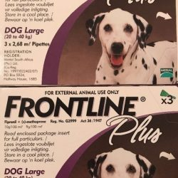 Buy Best Frontline Plus for Large Dogs 45-88lbs (20-40kg) 6 Pack For 6 Month Supply, New!