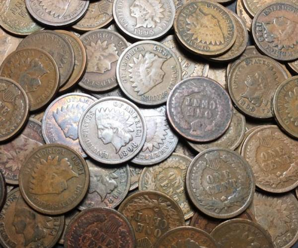 Buy Best Full Roll Of Indian Head Cents - 50 Pennies - Estate Lot 1859 - 1909
