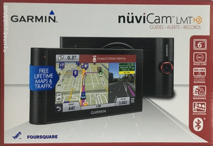 "Garmin nuviCam LMTHD 6"" Touchscreen GPS with Built-in Dash Cam - New Other"