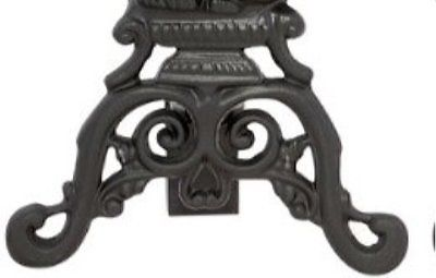 Gothic Cast Iron Cat Fireplace Andirons Black Sculpture Glowing Glass Eyes Set 2