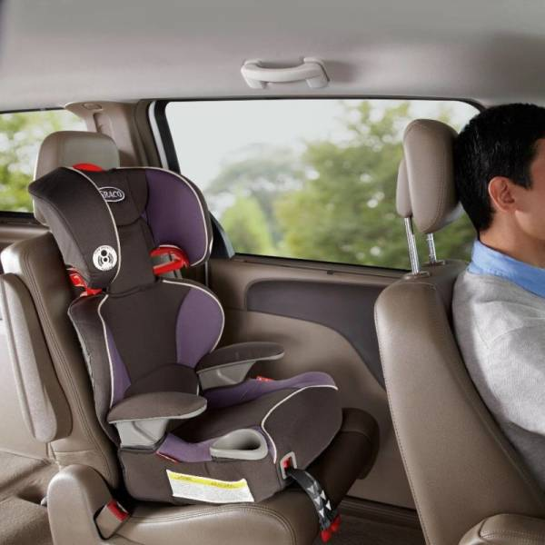 Graco Affix Highback Booster Seat with LATCH System - Grapeade Fashion