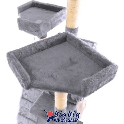 Buy Best Gray Deluxe 73'' Cat Tree Tower Condo Playhouse Scratching Post Kitten Furniture