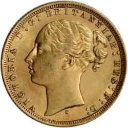 Great Britain Gold Sovereign (.2354 oz) - Victoria Young - Avg Circ Random Date