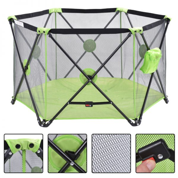 Buy Best Green Baby Play Pen Playard Portable Folding Outdoor Indoor Safety Free Standing