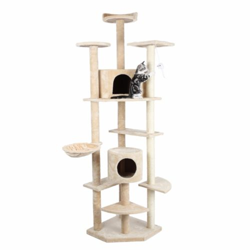 "HIDING Cat Tree™ 79"" Play House Condo Furniture Bed Tower Scratch Post Pole"