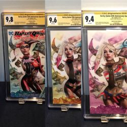 Harley Quinn 25th Anniversary Special 1 Greg Horn New 52 Variant CGC SS