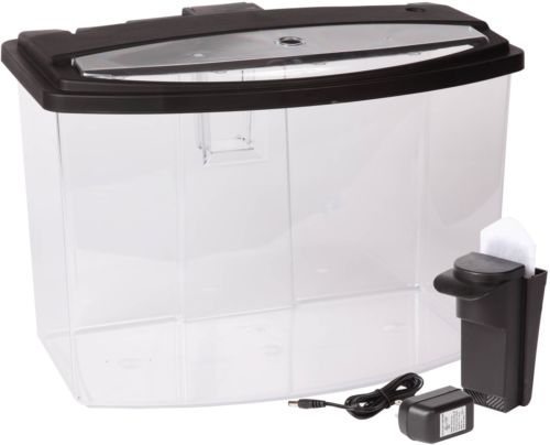 Hawkeye 7 Gallon Bow View Aquarium Kit with LED Light and Power Filter, New