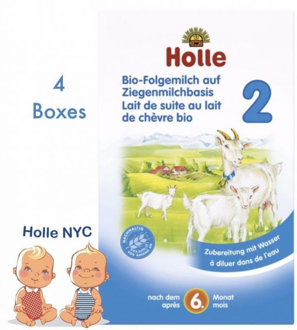 Holle Goat Stage 2 Organic Milk Formula 400g 4 BOXES 02/2019 FREE PRIORITY MAIL