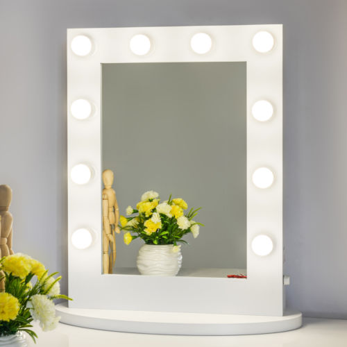 Buy Best Hollywood Makeup Vanity Mirror with Light Aluminum Stage Beauty Mirror