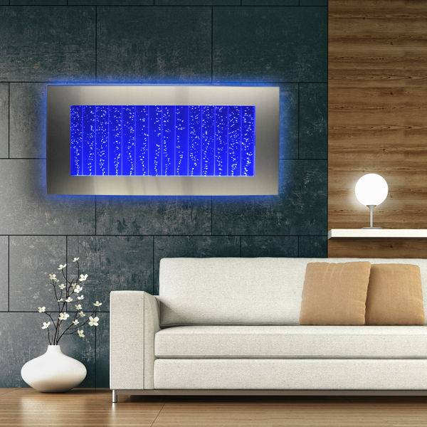 """Buy Best Horizontal Bubble Wall Mount LED Lighting Indoor Water Feature Fountain 45"""""""