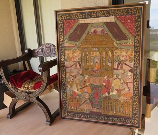 Buy Best Important Turkish textile handpainting Sultan ceremony antique oriental décor