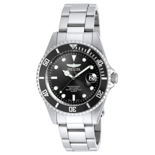 Buy Best Invicta 8932OB Men's Pro Diver Black Dial SS Bracelet Dive Watch