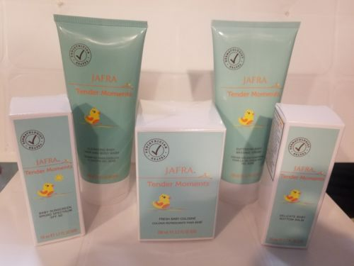 Buy Best Jafra Tender Moments 5 Piece Set Cologne+Cream+Body Wash+Sunscreen+Bottom Balm
