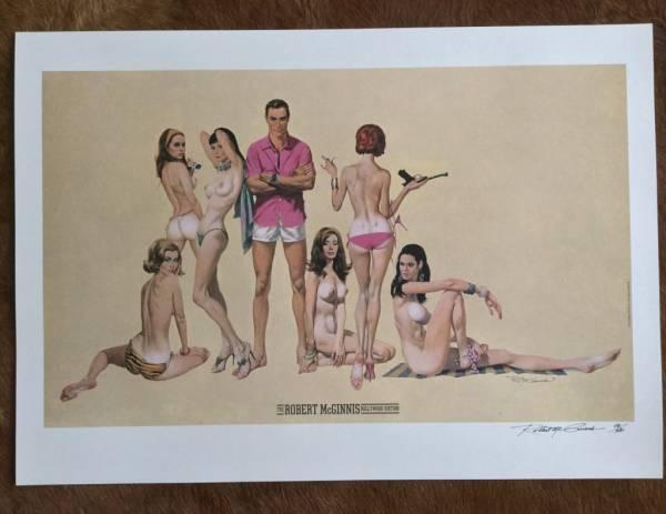 Buy Best James Bond artist Robert McGinnis signed art print 40/500 with sketch