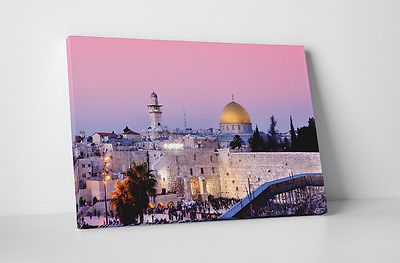 """Buy Best Jerusalem Israel Wailing Wall Gallery Wrapped Canvas Wall Art 30""""x20"""" or 20""""x16"""""""