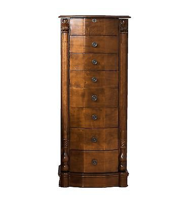 Buy Best Jewelry Armoire Chest Wood Case Box Tall Cabinet Storage Organizer Stand Mirror
