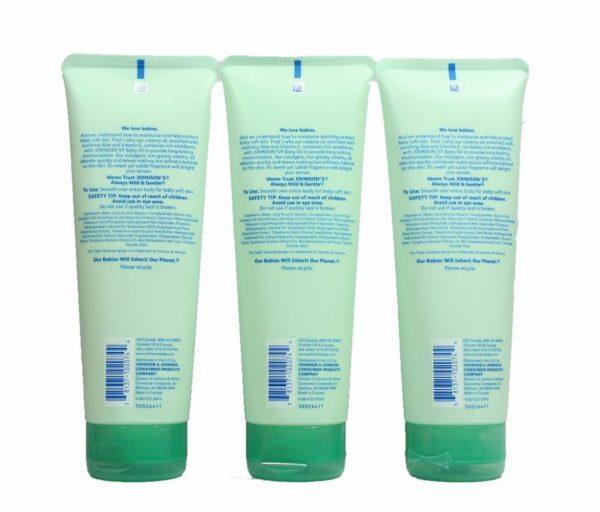 Buy Best Johnson's Baby Creamy Oil Aloe Vera & Vitamin E 8 fl oz Lot of 3