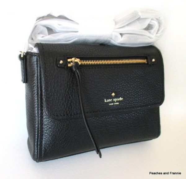 """KATE SPADE COBBLE HILL MINI TODDY LEATHER CROSSBODY """"BLACK"""" MSRP $198 ~ NWT!"""