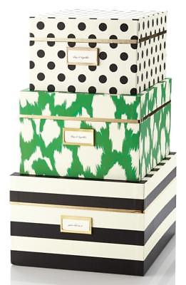 KATE SPADE IKAT SET OF 3 NESTING BOXES