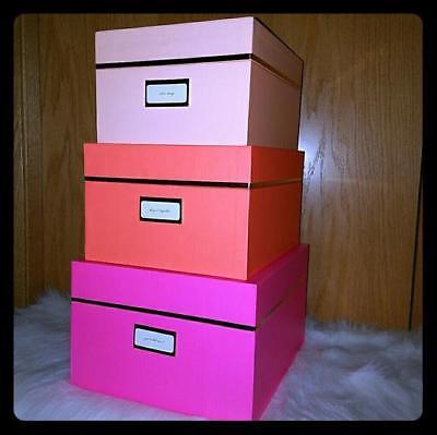 KATE SPADE NEON SET OF 3 NESTING BOXES