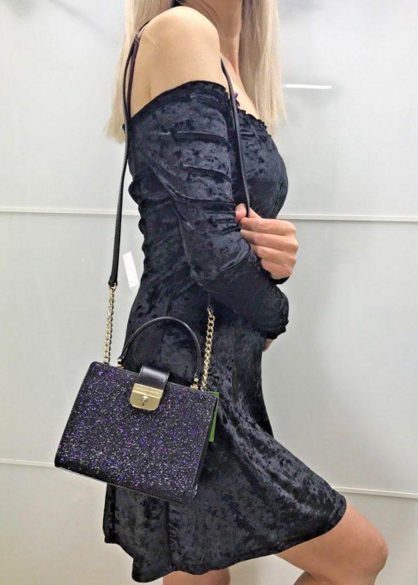 Buy Best KATE SPADE SUNSET LANE MINI KIRIN SHOULDER BAG GLITTER LEATHER XBODY ROSE GOLD