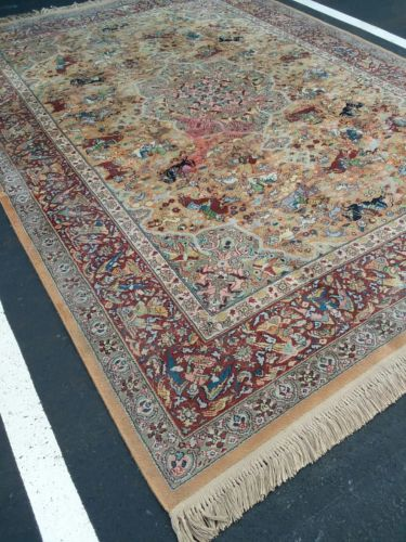Karastan 9 x 12 Persian Hunting 700 Series 723 Wool Rug