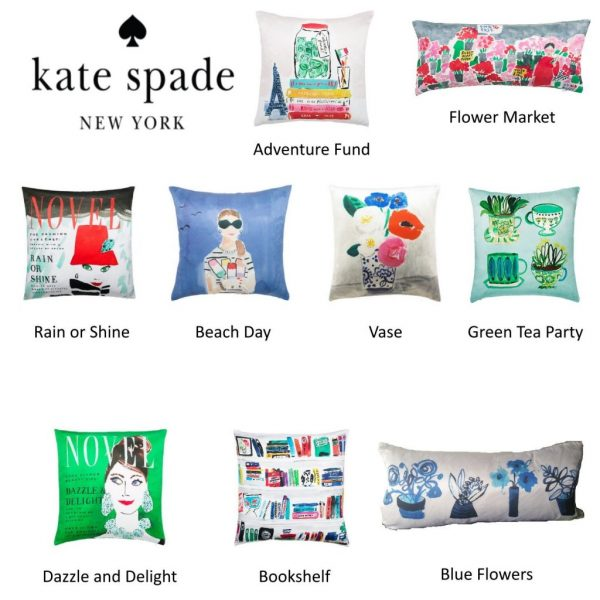 Kate Spade ASSORTED Silk Decorative Throw Pillows BRAND NEW WITH TAGS!