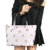Kate Spade Haven Lane Hani Small Tote Glitter Pink Polka Dot Top Zip Handbag