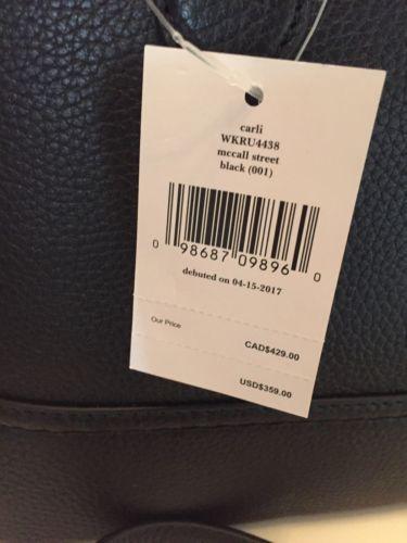 Kate Spade Mccall Street Carli Tassel Satchel Crossbody Bag Leather Black $359