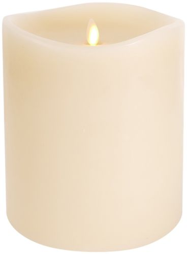Buy Best Large Luminara Flameless Candle: 360 Degree Top, Unscented Moving Flame Candl...
