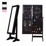 Buy Best Lockable Mirrored Jewelry Cabinet Armoire Organizer Storage Box Stand Christmas