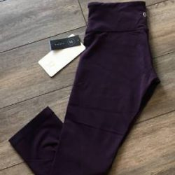 Lululemon Wunder Under Crop III DPZI Deep Zinfandel NWT Yoga Run Crop Size 4