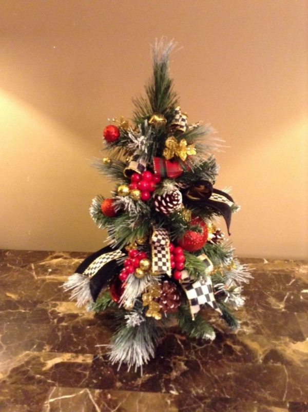 Buy Best MacKenzie-Childs Inspired. Cute Christmas Topiary Tree, Topiary,Holiday Decor