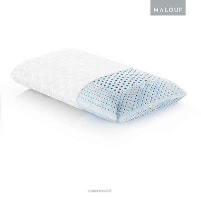 Malouf Z Zoned Gel Talalay Latex Pillow in White, Queen