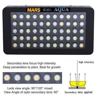 MarsAqua Dimmable 165W LED Aquarium Light Full Spectrum Reef Coral Marine Tank