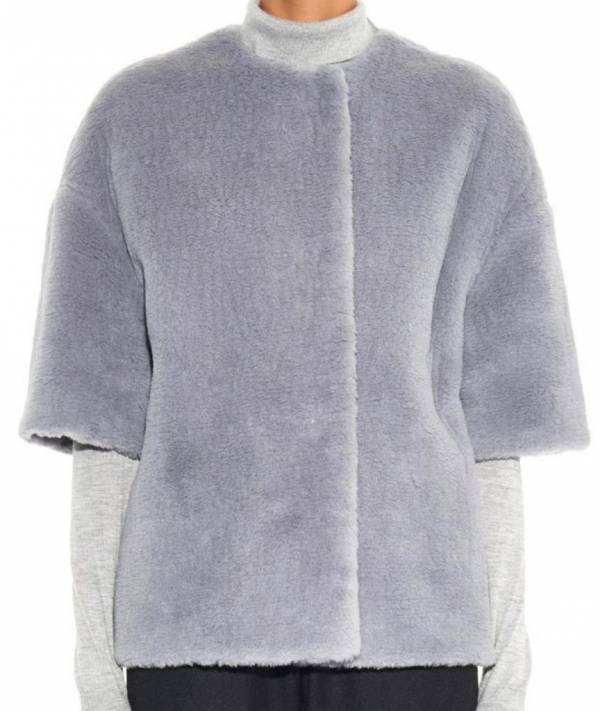 Max Mara Kiss Plush Cashmere Blend Boxy Short Jacket Msrp $2390.00 Made in Italy