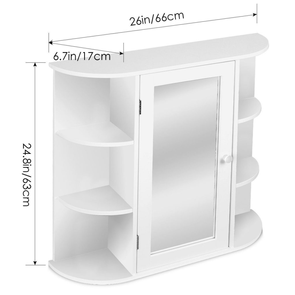 Buy cheap medicine cabinet white framed mirror door wall - Wall mounted bathroom cabinets white ...