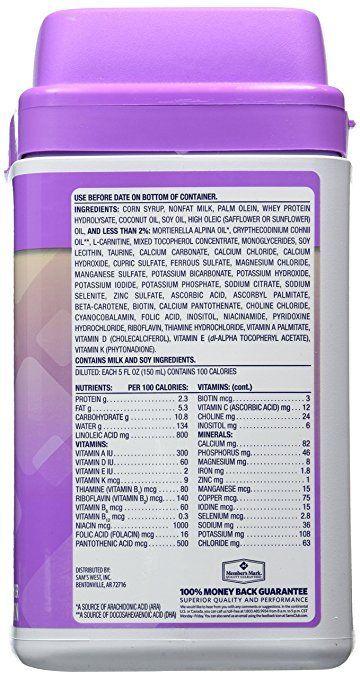 Buy Best Member's Mark Gentle Infant Baby Milk Based Powder Formula 48 oz 02/10/2019