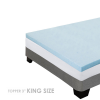 Memory Foam Mattress Topper 3 Inch Thick Cooling Gel - KING Size - Memory Foam T