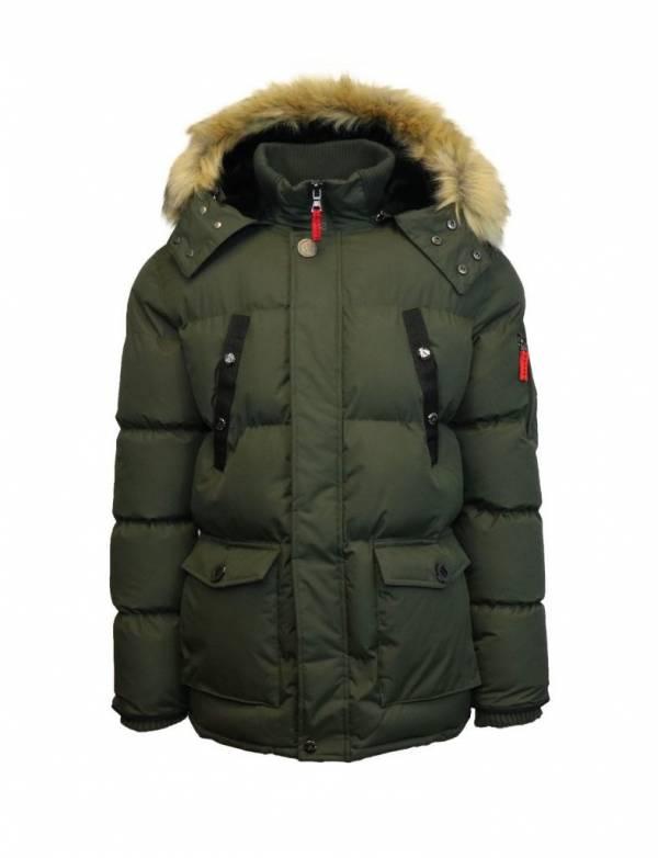 Buy Best Mens Heavy Parka Jacket Coat Bubble Outerwear W/ Detachable Hood & Fur Trim NWT