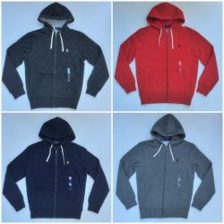 Men's POLO Ralph Lauren HOODIE FULL ZIP FLEECE Lining Pony Sweatshirt Jacket