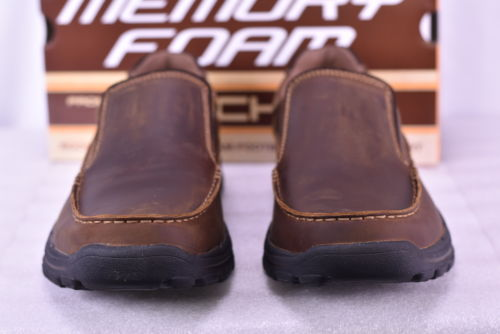 Buy Best Men's Skechers 64502/CDB Braver-Rayland Slip Ons Dark Brown