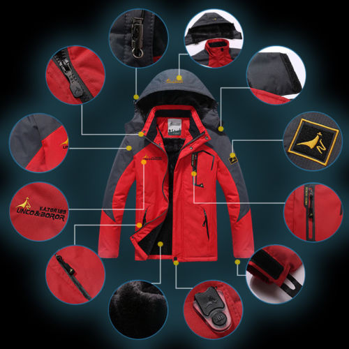 Buy Best Men's Sport Waterproof Hiking Jacket Coat Winter Ski Outdoor Hoodie Parka L-6XL