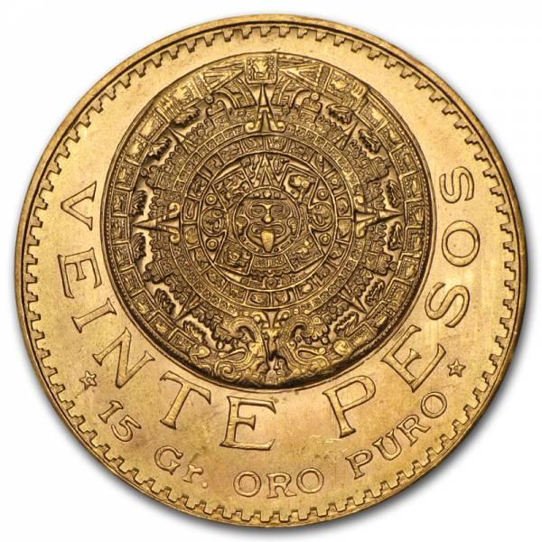 Buy Best Mexico Gold 20 Pesos AGW .4823 Almost Uncirculated AU (Random Year) - SKU #1044