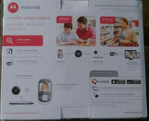 Motorola MBP662Connect 2.4 GHz Wireless Digital Video Baby Monitor with Wifi New