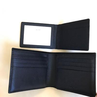 Buy Best NEW Coach Black Men's Compact ID Leather Wallet F74991